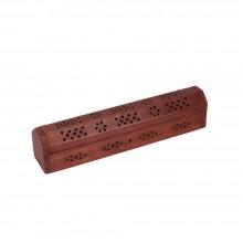 Подставка для благовоний и конусов Сундучок деревянная 30см