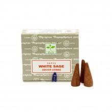 Благовония конусные Белый Шалфей (White Sage) Satya 12 шт/уп.