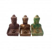 Подставка для благовоний Бюст Будды гипсовая 13 см