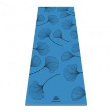 Коврик для йоги ArtYogamatic Leaf Blue 185 см x 68 см x 4 мм