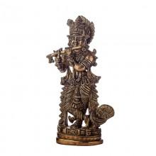 Статуэтка Кришна играющий на флейте 20 см