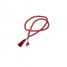 Чётки Малы из пластика красные 112 бусин v.2